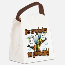 Boo Bees.png Canvas Lunch Bag