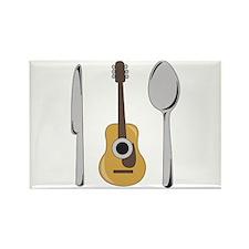 Eat Music Rectangle Magnet