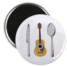 """Eat Music 2.25"""" Magnet (100 pack)"""