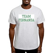 TEAM FERNANDA  Ash Grey T-Shirt