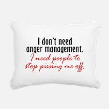 Anger Management Rectangular Canvas Pillow