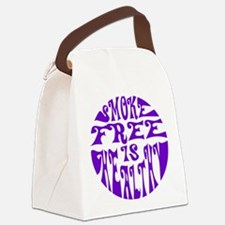 Smoke free is healthy Canvas Lunch Bag