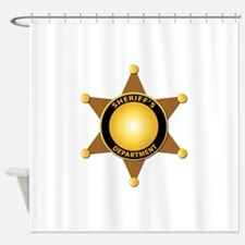 Sheriff's Department Badge Shower Curtain