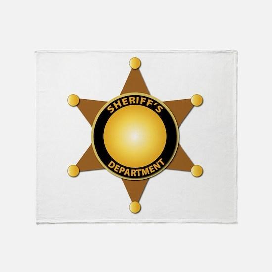 Sheriff's Department Badge Throw Blanket
