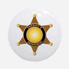 Sheriff's Department Badge Ornament (Round)