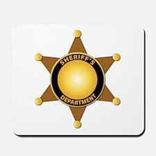 Sheriff's Department Badge Mousepad