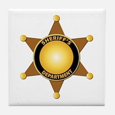 Sheriff's Department Badge Tile Coaster