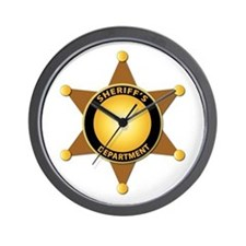 Sheriff's Department Badge Wall Clock