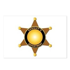 Sheriff's Department Badge Postcards (Package of 8