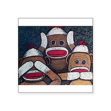 See No Evil Sock Monkeys Sticker
