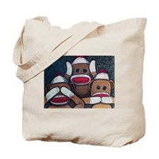 See No Evil Sock Monkeys Tote Bag