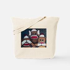 See No Evil Sock Monkeys Tote Bag