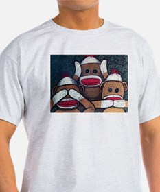 See No Evil Sock Monkeys T-Shirt