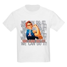 Rosie Riveter Uterine Cancer T-Shirt