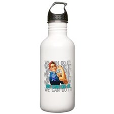 Rosie The Riveter Thyroid Cancer Water Bottle