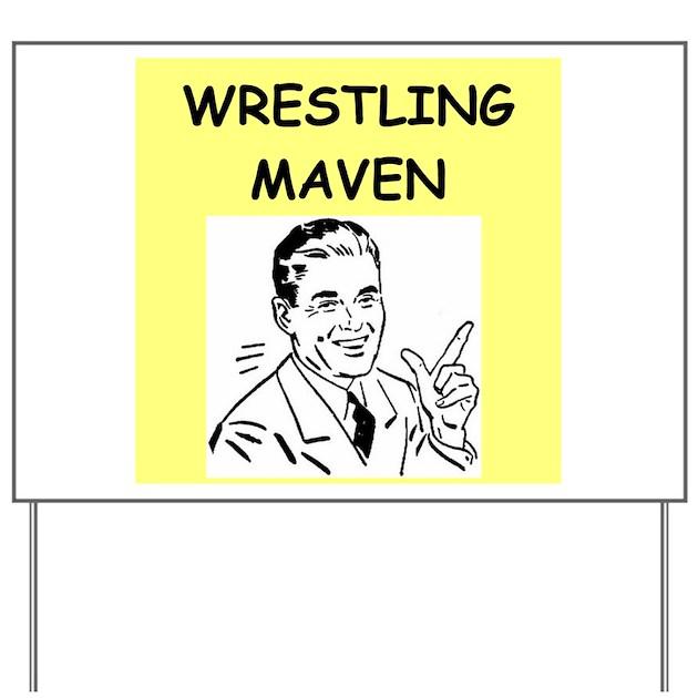Wrestling Yard Sign By Winningiswonderful