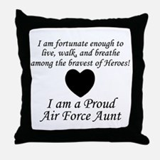 AF Aunt Fortunate Throw Pillow