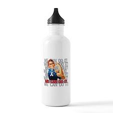 Rosie The Riveter Retinoblastoma Water Bottle