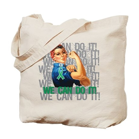 Rosie The Riveter Liver Cancer Tote Bag