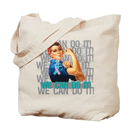 Rosie The Riveter Thyroid Cancer Tote Bag
