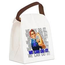 Rosie Riveter Colon Cancer Canvas Lunch Bag