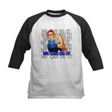 Rosie Riveter Colon Cancer Baseball Jersey