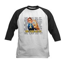 Rosie Riveter Childhood Cancer Baseball Jersey