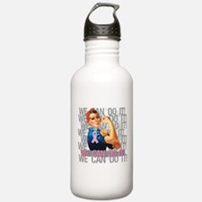 Rosie The Riveter Breast Cancer Water Bottle