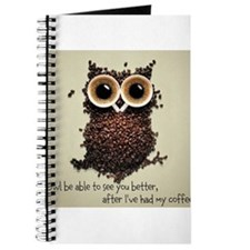 Owl says COFFEE!! Journal