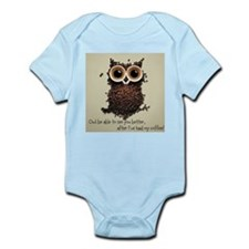 Owl says COFFEE!! Body Suit
