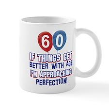 60 year Old Birthday Designs Small Mugs
