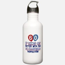 60 year Old Birthday Designs Water Bottle