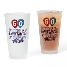 60 year Old Birthday Designs Drinking Glass