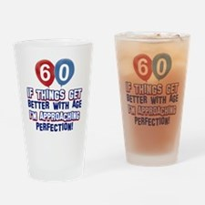 60 year Old Birthday Designs Drinking Glass