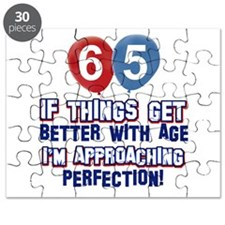 65 year Old Birthday Designs Puzzle