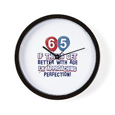 65 year Old Birthday Designs Wall Clock