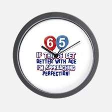 65 year Old Birthday Designs Wall Clock