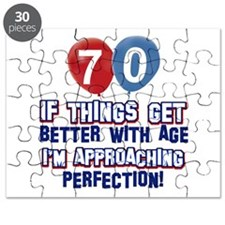 70 year Old Birthday Designs Puzzle