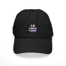 70 year Old Birthday Designs Baseball Hat