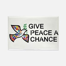 Give Peace A Chance Rectangle Magnet Magnets