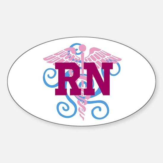 RN Swirl Decal