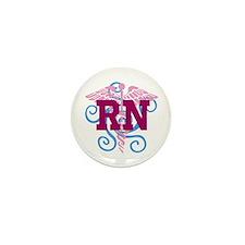 RN Swirl Mini Button (10 Pack)