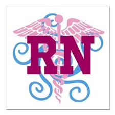 RN Swirl Square Car Magnet 3&Quot; X 3&Quot;
