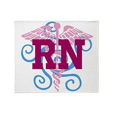 RN swirl Throw Blanket