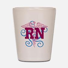 RN swirl Shot Glass