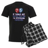75th birthday Men's Pajamas Dark