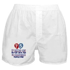 75 year Old Birthday Designs Boxer Shorts