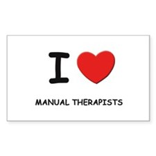 I love manual therapists Rectangle Decal