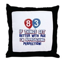 83 year Old Birthday Designs Throw Pillow