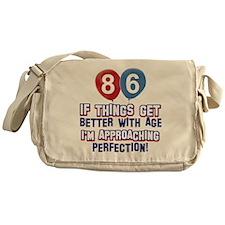 86 year Old Birthday Designs Messenger Bag